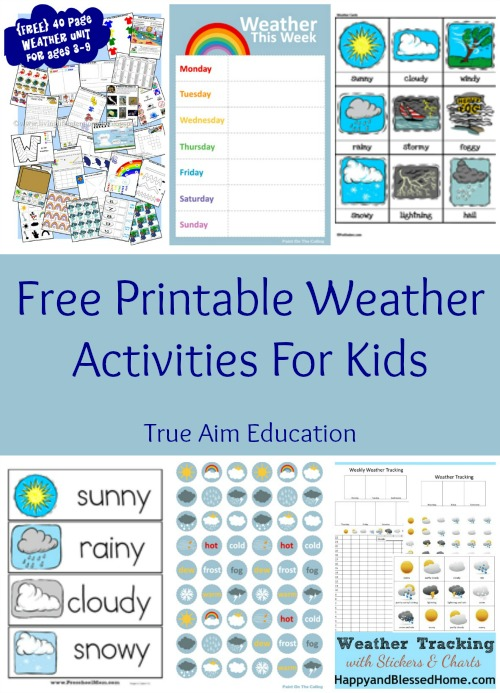 free printable weather learning activities for kids this list includes weather tracking charts stickers - Free Printable Preschool Activities