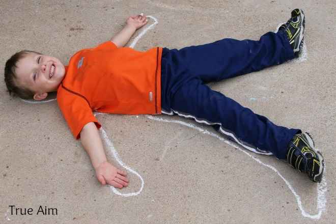 Sidewalk Chalk Anatomy Activity for Kids