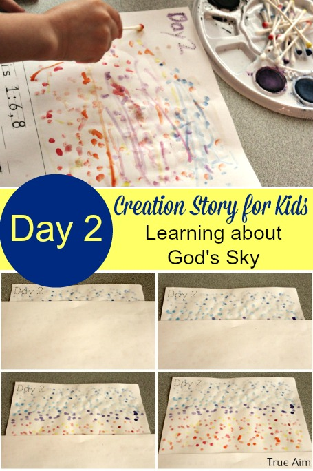 creation activities for kids - Day 2 Sky