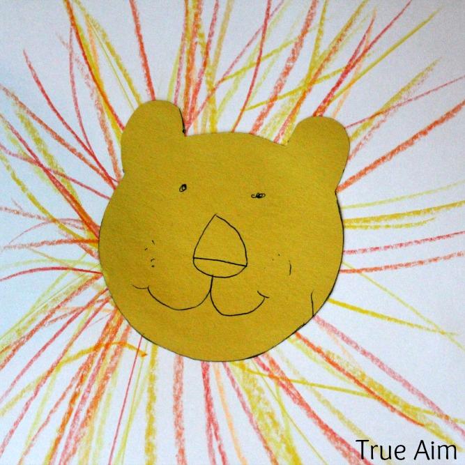 easy lion art for kids