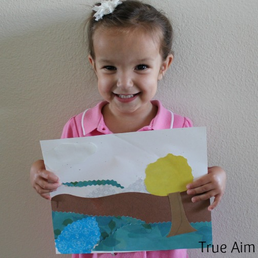 landscape art project for kids