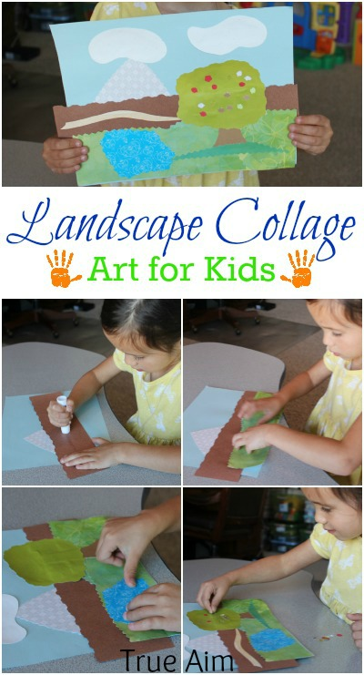 landscape collage art for kids