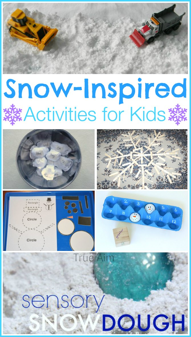 Snow Inspired Activities For Kids And Mom S Library