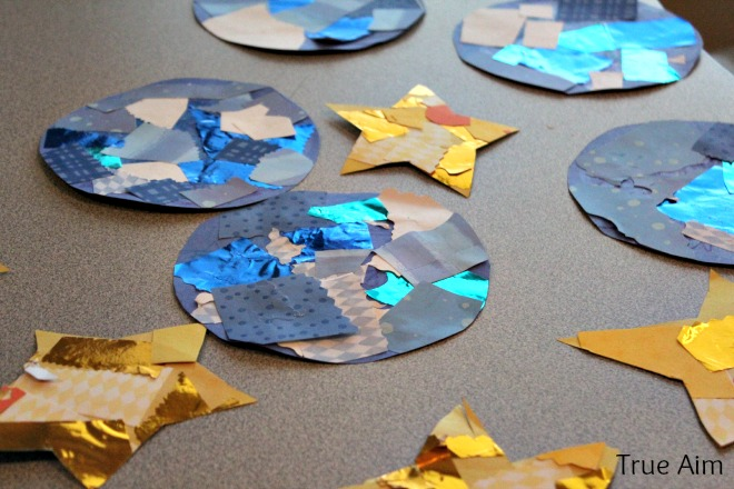 Creation story for kids day 4 the sun moon and stars for Moon and stars crafts