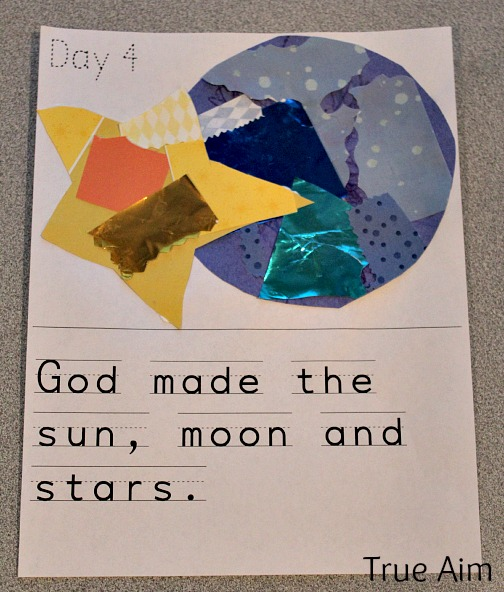 Creation Story For Kids Day 4 The Sun Moon And Stars True Aim