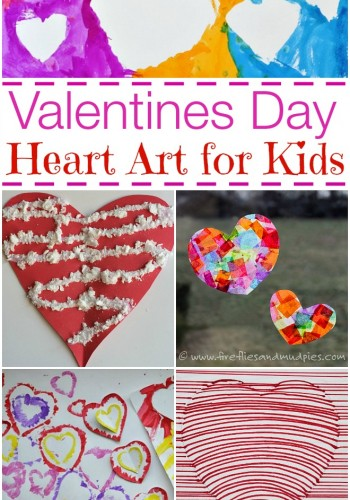 valentines day heart art for kids