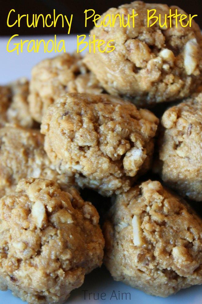 crunchy peanut butter granola bites