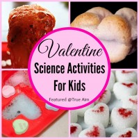 Valentine Themed Science Activities for Kids and Mom's Library
