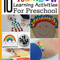 10+ Preschool Rainbow Learning Activities and Mom's Library #129