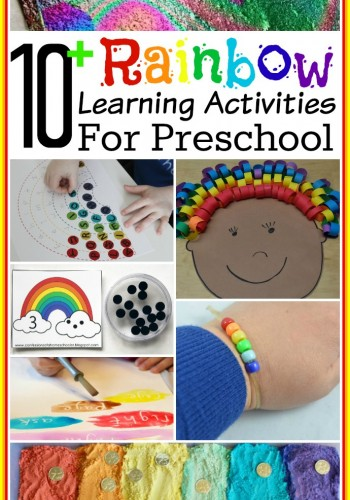 10+ Rainbow Learning Activities for Preschool - Teach counting, letter recognition and more with rainbows