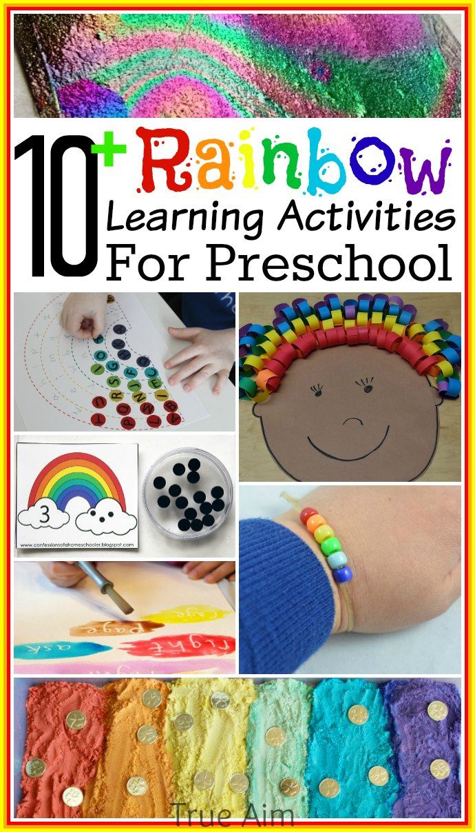 10+ Preschool Rainbow Learning Activities and Mom's