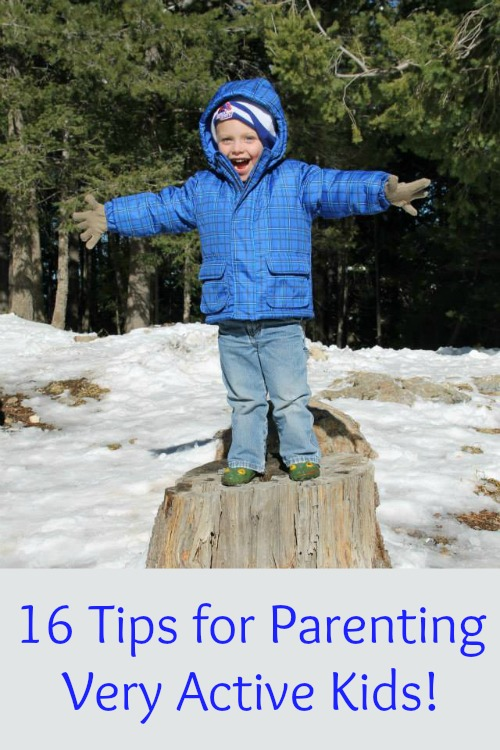 16 Tips for Parenting Very Active Kids - Do you feel overwhelmed or exhausted by how energetic your children are all the time? Check out these tips!