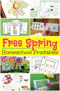 Over 500 pages of Spring Homeschool Printables for Free - Nature studies, easter printables, coloring pages and more for Prek - Elementary