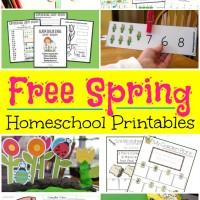 Spring Themed Free Homeschool Printables