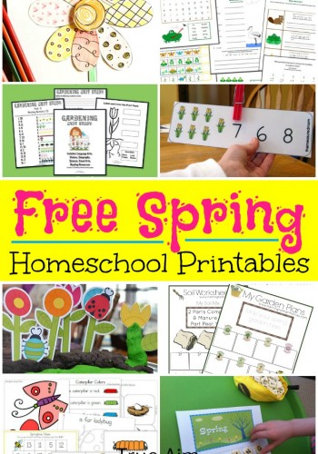 Spring Themed Free Homeschool Printables