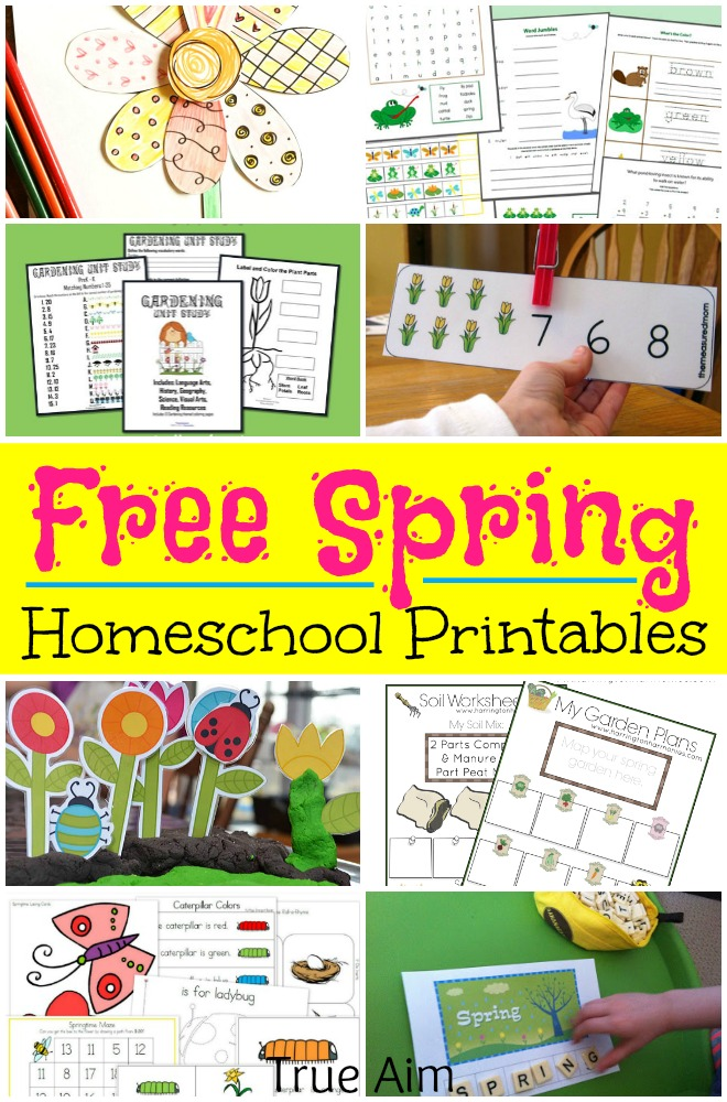 over 500 pages of spring homeschool printables for free nature studies easter printables
