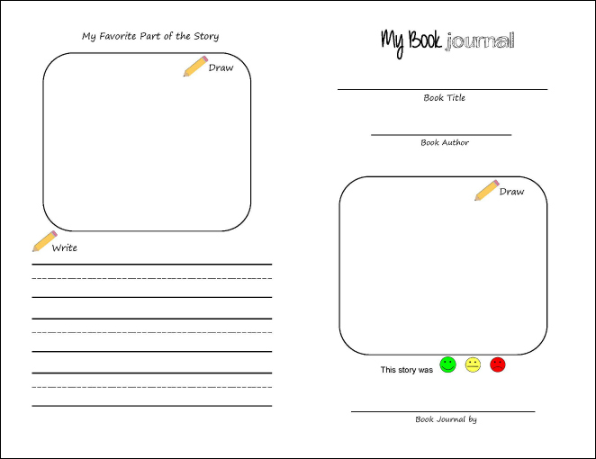 free printable book journal for kids true aim