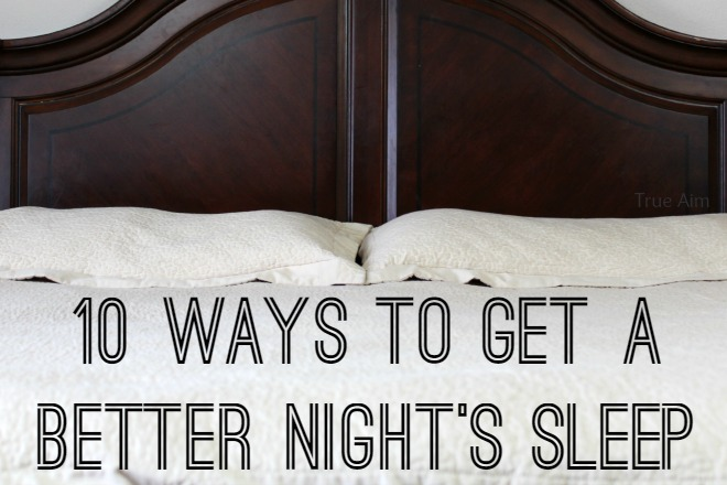 ways to get a better night's sleep