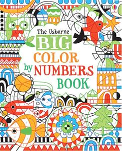 Big color by numbers art activity book for kids