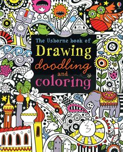Drawing doodling and coloring art activity book