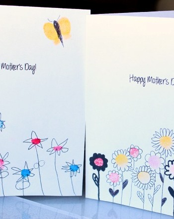 Fingerprint Mother's Day Card Kids Can Make