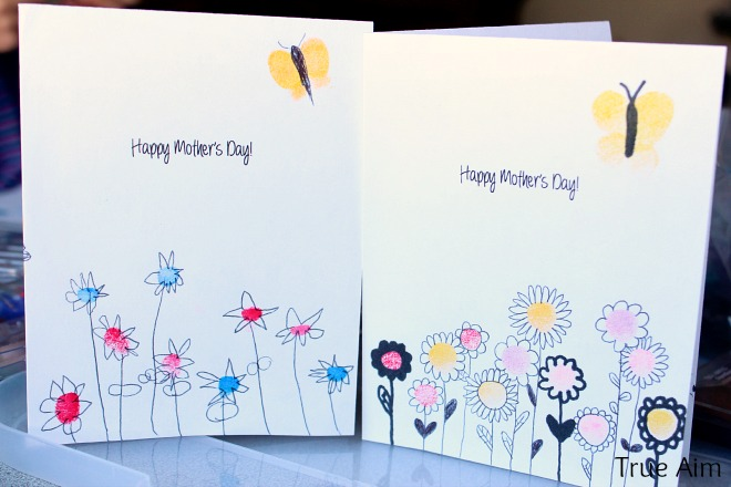Finger print mothers day card