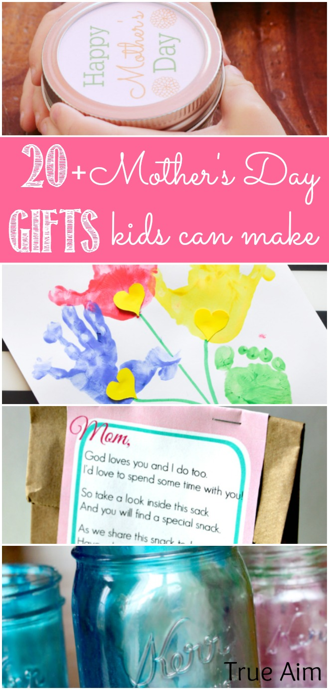 20 mother 39 s day gifts kids can make true aim for Mothers day gifts for kids to make
