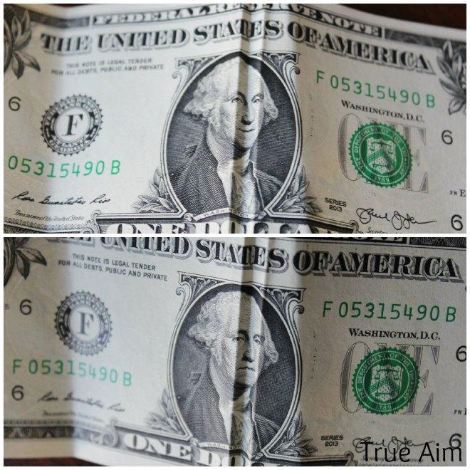 Smiling & Frowning George Washington Dollar Trick