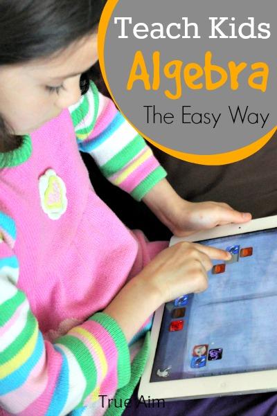 Teach even young children algebra with this fun math app