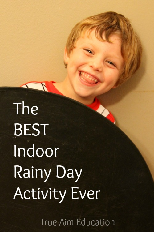 The Best Indoor Rainy Day Activity Ever - This energy burning activity will have your kids laughing for hours. All you need is stuff from around the house.