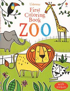 first coloring book zoo