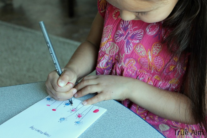 making fingerprint mother's day card