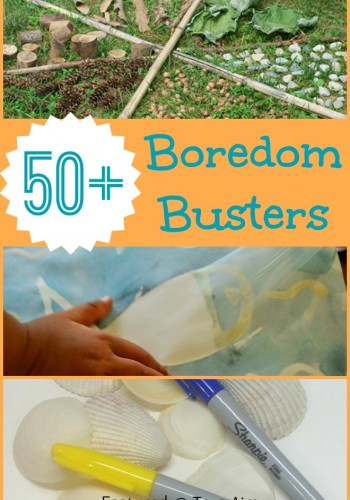 50+ Boredom Busters for Kids - Simple activities with things you already have. Keep kids busy for hours!
