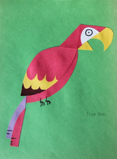 Paper Parrot Kid Art project