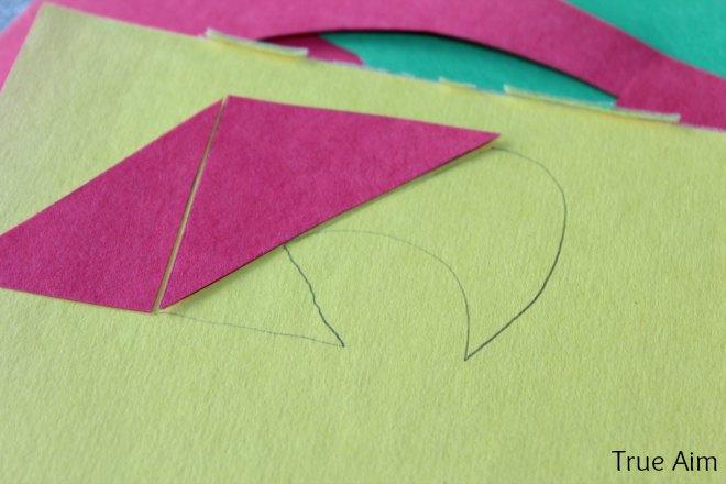 kid art animal paper puzzle