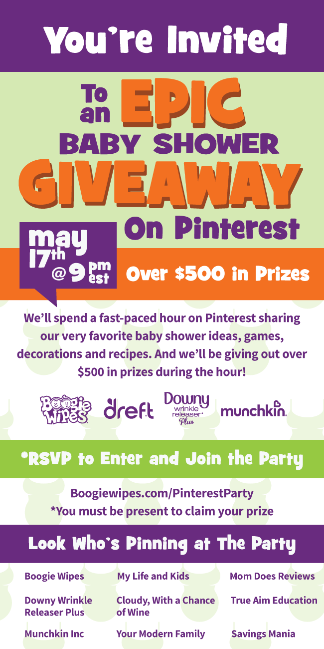 Pinterest Baby Shower and Giveaway! You're invited!