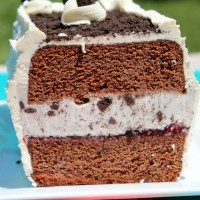 Chocolate Cookies and Cream Ice Cream Cake