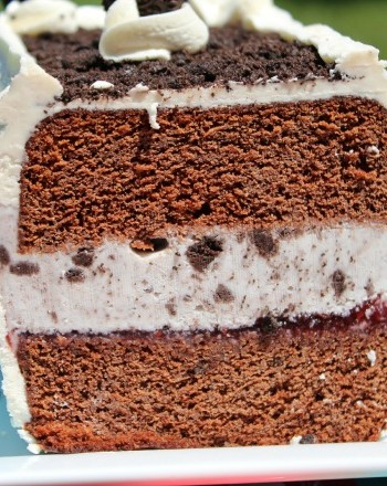 Homemade Cookies and cream ice cream cake