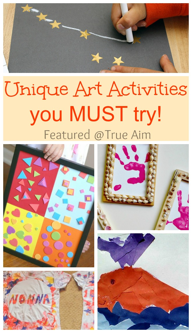 Unique Art Activities for kids you MUST try! Kids will LOVE these!