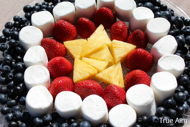 4th of July fruit platter