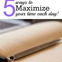 5 Ways Homeschool Moms Can Maximize Their Time