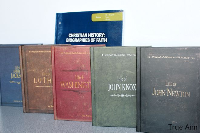 Christian homeschool curriculum history books