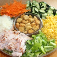 Cooking with Kids When you Don't want to Cook: Salad Buffet Dinner