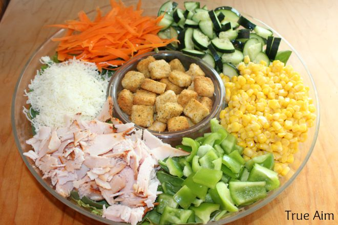 Cooking with Kids - kid friendly salad buffet dinner