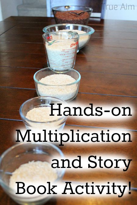 Hands-on Multiplication Math Activity that goes along with a Mathematical Folk Tale from India
