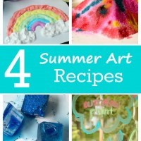 4 Summer Art Recipes and Mom's Library #149