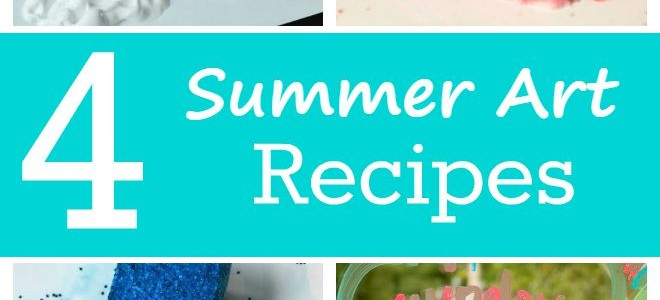 Summer Art Recipes! 4 fun homemade paint & art ideas for kids to make amazing works of art