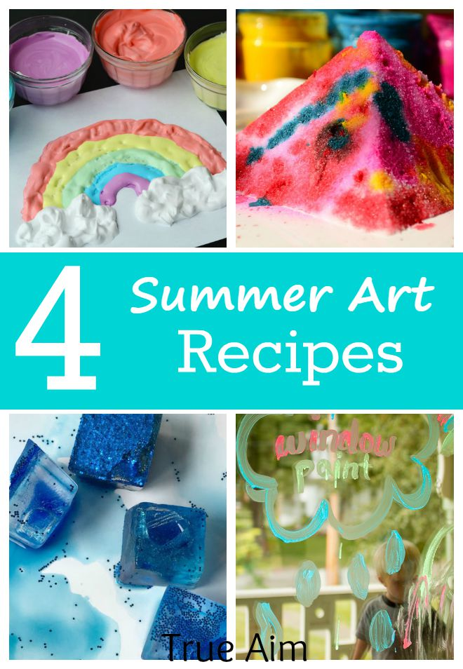 Summer Art Recipes! 4 fun homemade paint & art ideas for kids to make amazing works of art