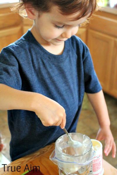 making yogurt bites