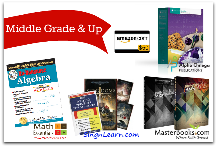 middle grade and up homeschool curriculum